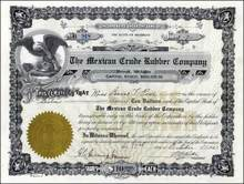 Mexican Crude Rubber Company 1927