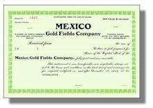 Mexico Gold Fields Company 1912