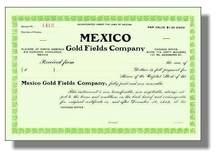 Mexico Gold Fields Company 1912