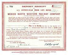 Mexico North Western Railway Company - 1923