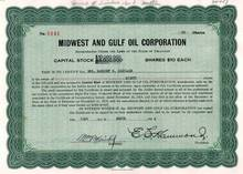 Midwest and Gulf Oil Corporation