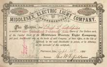 Middlesex Electric Light Company 1883