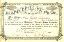 MiddleSex Electric Light Company, Portland, Maine 1883