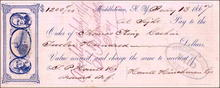 Middletown NY Check 1867