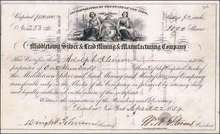 Middletown Silver & Lead Mining & Manufacturing Company 1854