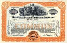 Mid - West States Utilities Company 1931 - Early General Telephone Company