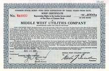 Middle West Utilities Company 1931