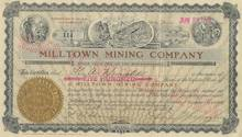 Milltown Mining Company - Goldfield, Nevada signed by George Wingfield