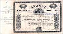 Millville Stock Building Association 1892 - New Jersey