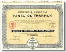 Mines de Thakhek (Laos - Indochina) 1928