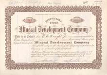 Mineral Development Company 1906 - 1909