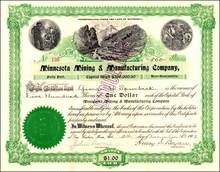 Minnesota Mining & Manufacturing Company (3M) 1902 - Signed by founder and first President