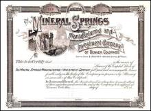 Mineral Springs Manufacturing and Investment Company - Denver Colorado - 1880's