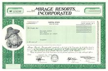 Mirage Resorts, Inc. - Las Vegas Hotel Company - Stephen Wynn as Chairman