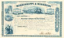 Mississippi & Missouri Rail Road Company signed by John Dix