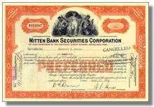 Mitten Bank Securities Corporation 1927-1938