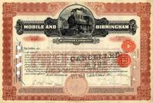 Mobile and Birmingham Railroad Company 1899