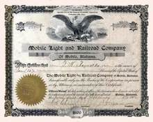 Mobile Light and Railroad Company 1902 - Alabama
