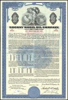Socony Mobil Oil Bond 1963 (Now Exxon Mobil)