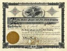 Modern Burglar and Fire Alarm Company 1905