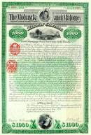 Mohawk and Malone Railway Company Gold Bond 1892 - Indian Vignette