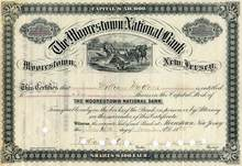 Moorestown National Bank - New Jersey 1885 - Harvester Vignette