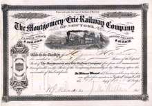 Montgomery and Erie Railway Company 1867-1881