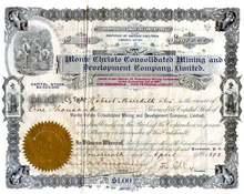 Monte Christo Consolidated Mining and Development Company, Ltd. 1898