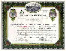 Montex Corporation 1925 - Fort Worth, Texas