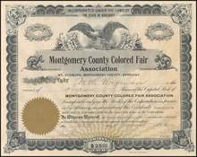 Montgomery County Colored Fair Association 1909 - Kentucky