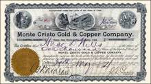 Monte Cristo Gold & Copper Company 1904
