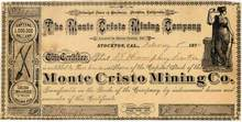 Monte Cristo Mining Co. 1878 - Sierra County, California
