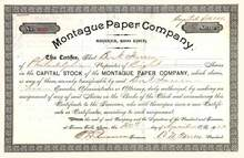 Montague Paper Company 1903 - Turners Falls, Massachusettes