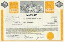 Monsanto Company 9 1/2 Percent Bond Certificate