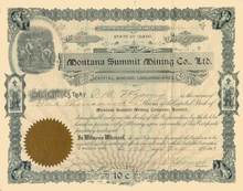Montana Summit Mining Co, Ltd. 1901