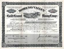 Moreno Valley Gold Gravel Mining Company 1887 - New Mexico