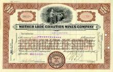 Mother Lode Coalition Mines Company 1920's