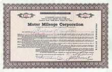 Motor Mileage Corporation 1929