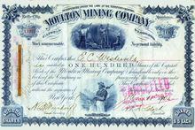 Moulton Mining Company of Montana 1887-1902 - Montana Territory