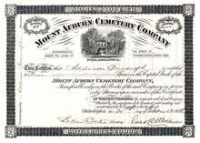 Mount Auburn Cemetery Company 1886