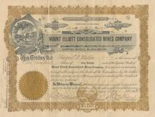 Mount Elliot Consolidated Mines Company Territory of Arizona 1909
