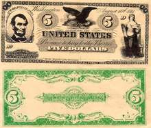 Movie Prop Money - Lincoln Five Dollars