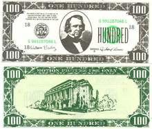 Movie Prop Money One Hundred Dollars