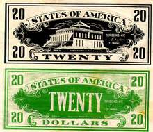 Movie Prop Money - Twenty Dollars
