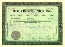 MPO Videotronics, Inc. 1961 - Production Film Company