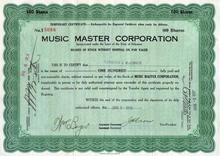 Music Master Corporation 1926