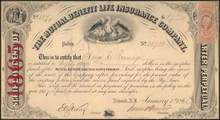Mutual Benefit Life Insurance Company 1865 - New Jersey