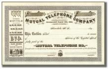Mutual Telephone Company 1890's - Honolulu, Hawaii