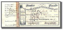 Mutual Telephone Company 1886 - Honolulu, Hawaii