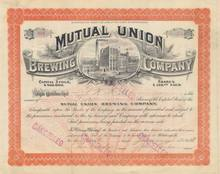 Mutual Union Brewing Company 1908